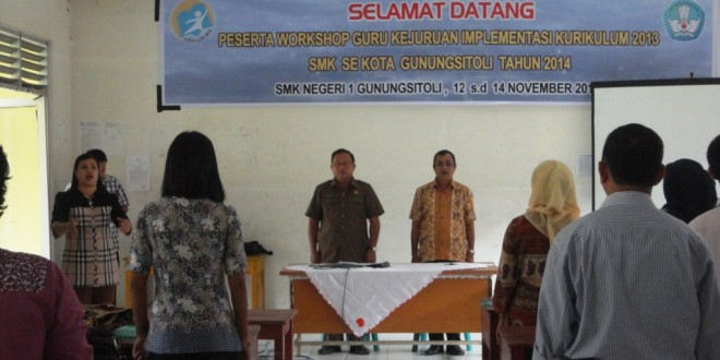 Pembukaan Workshop Guru kejuruan Implementasi Kurikulum 2013